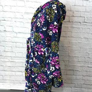 Vera Bradley Intimates & Sleepwear - Vera Bradley Plush Fleece Hooded Bath Robe 🌼